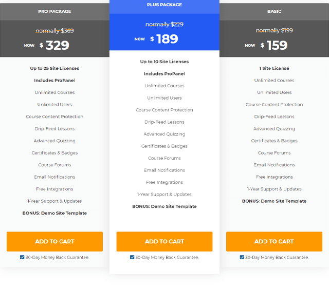 LearnDash vs LifterLMS Pricing