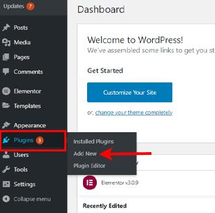 Navigate Plugins to add new