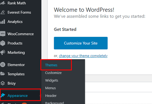 How to Make a Business Website in WordPress Themes Navigation