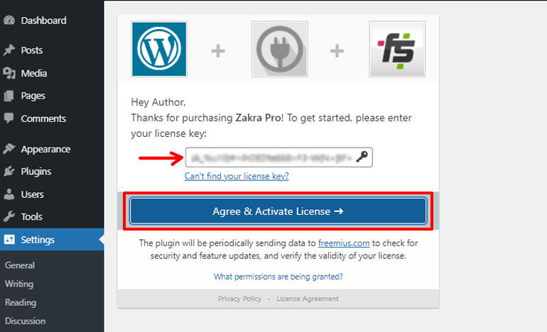 Activate License