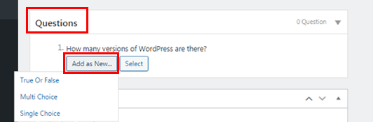 Adding Quiz Questions How to Create an Online Course on WordPress