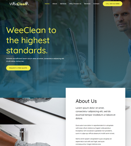 Astra Theme for Cleaning Services
