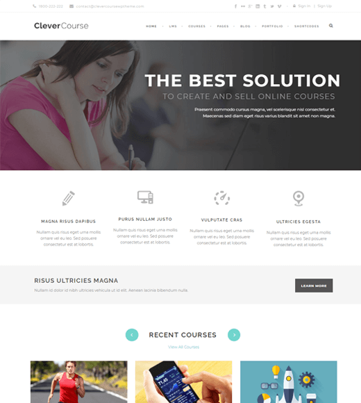 Clever Course WordPress Themes