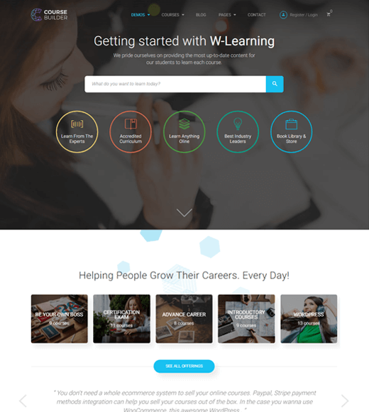 Course Builder Kit Best WordPress Themes for Online Learning