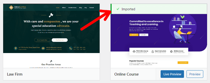 Demo Imported Creating an Online Course Using WordPress