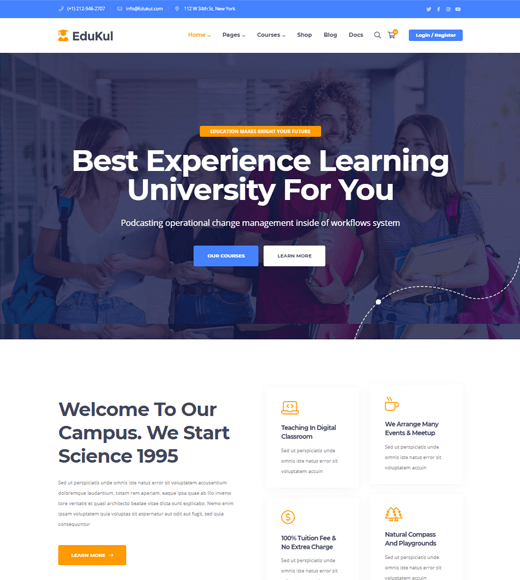 Edukul Online Course WordPress Themes