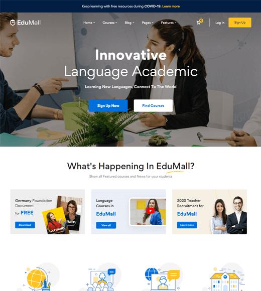 EduMall Best WordPress Themes for Online Learning