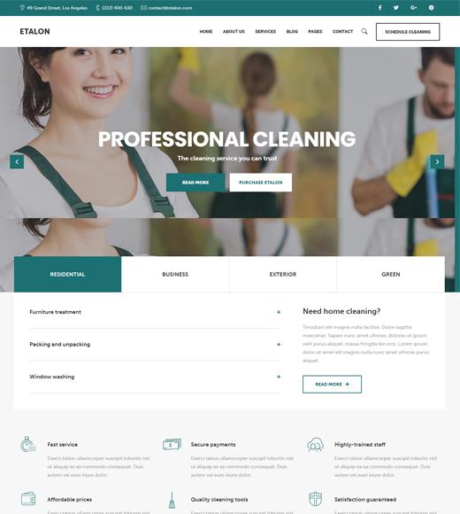Etalon Laundry WordPress Theme