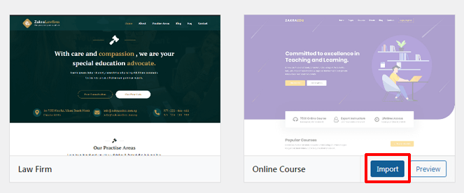 Importing Online Course Demo How to Create an Online Course Using WordPress