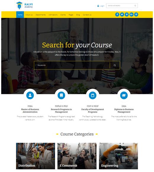 Kalvi Best Themes for Online Learning