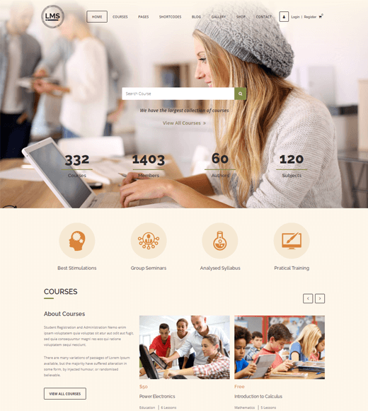 LMS Online Course WordPress Themes