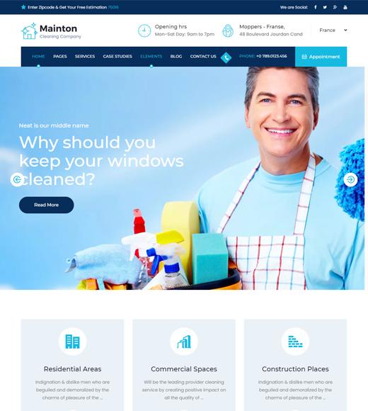 Mainton Laundry WordPress Theme