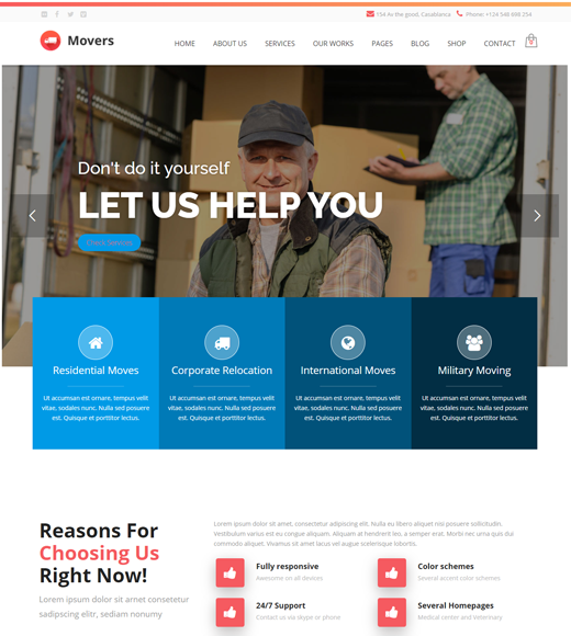 Movers WordPress Theme