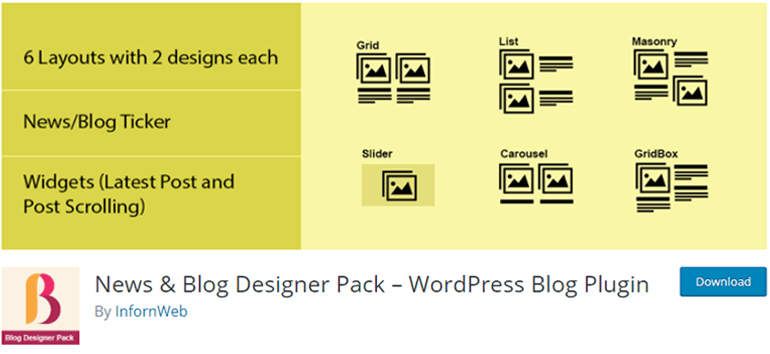 News and Block Designer Pack
