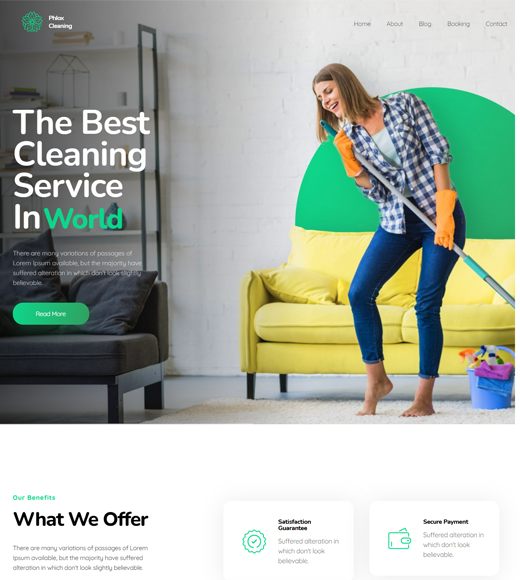 Phlox WordPress Theme for Cleaning Services