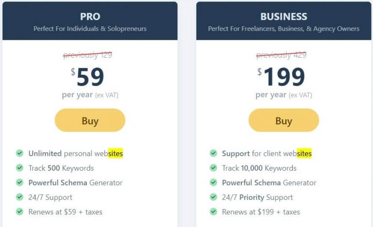 rank math seo pricing review