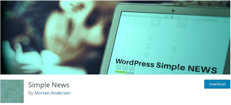 Simple News WordPress Plugin