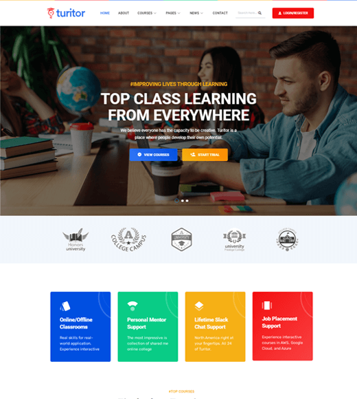 Turitor WordPress Themes for Online Courses