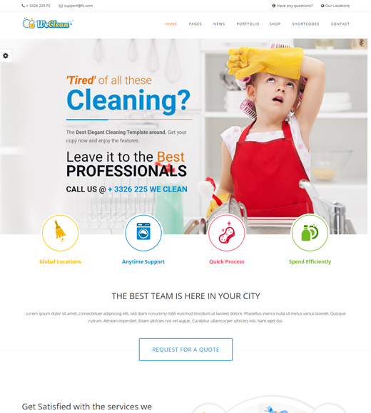 We Clean Pressure Washing WordPress Theme