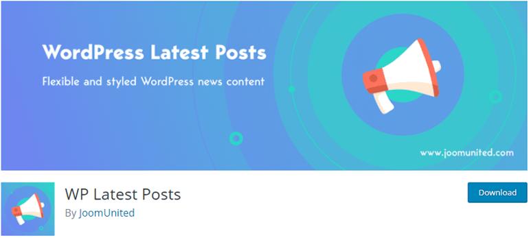 WP Latest Posts News Plugin