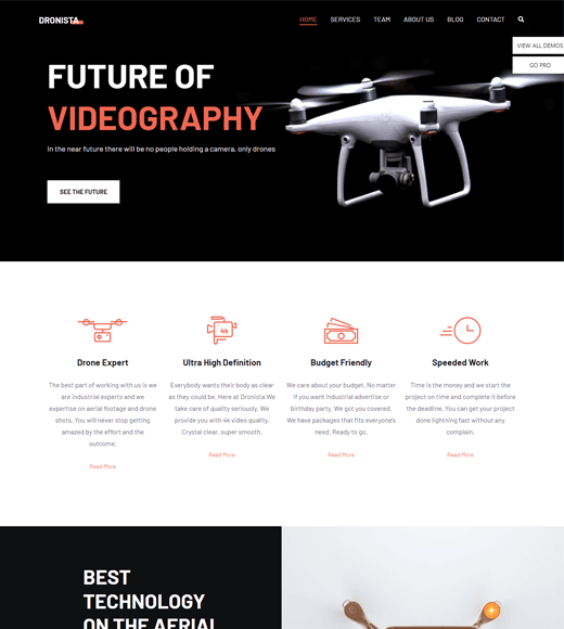 Zakra WordPress drone theme