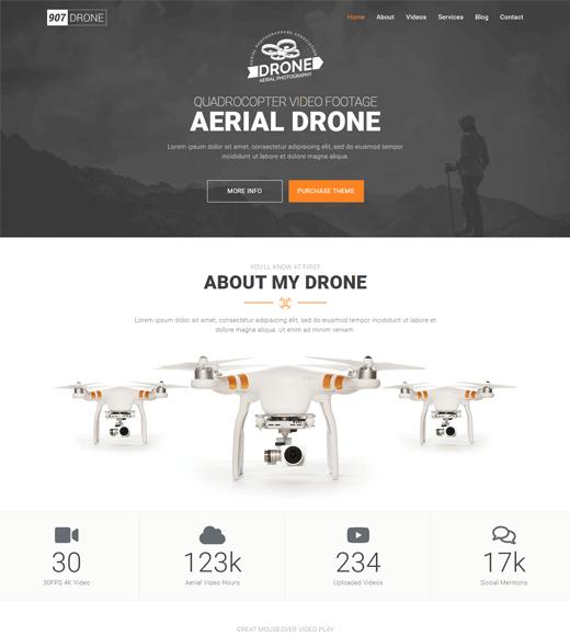907 WordPress drone theme