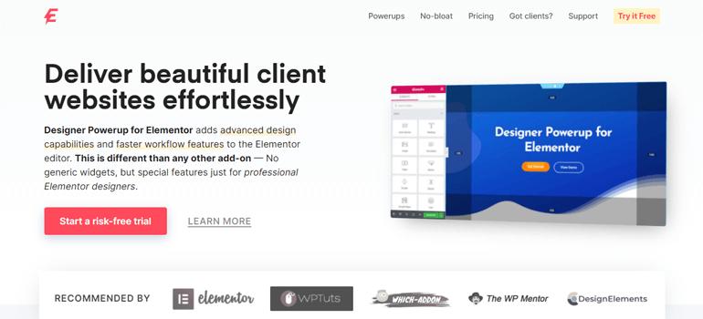 Designer Powerup for Elementor