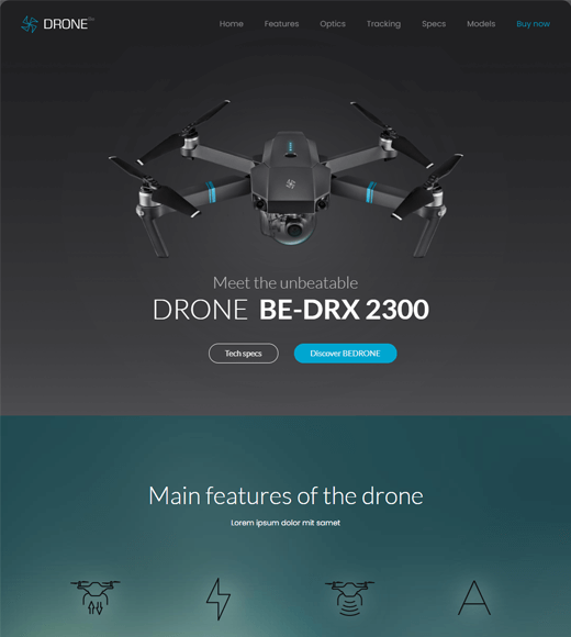 BeTheme aerial photography WordPress theme