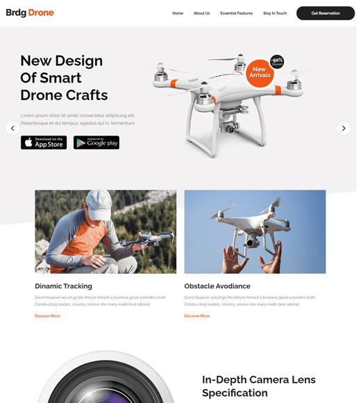 Bridge WordPress drone theme