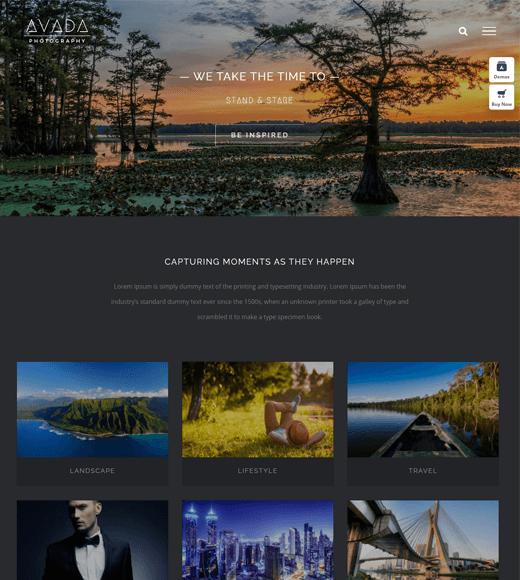 Avada aerial photography WordPress theme