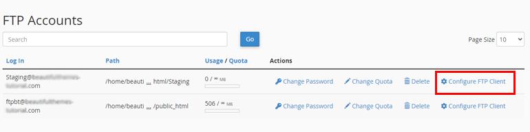 Configure FTP Client