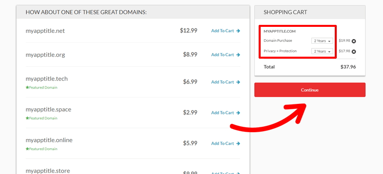 Domain.com how to get a domain name