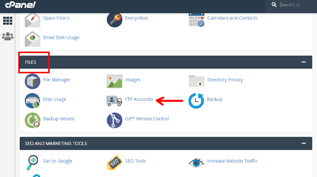 Create WordPress Staging Site FTP Accounts