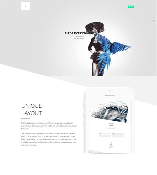 Flamingo Freelance Website Template WordPress