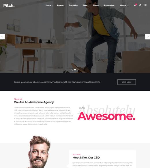 Pitch Freelance Website Template WordPress