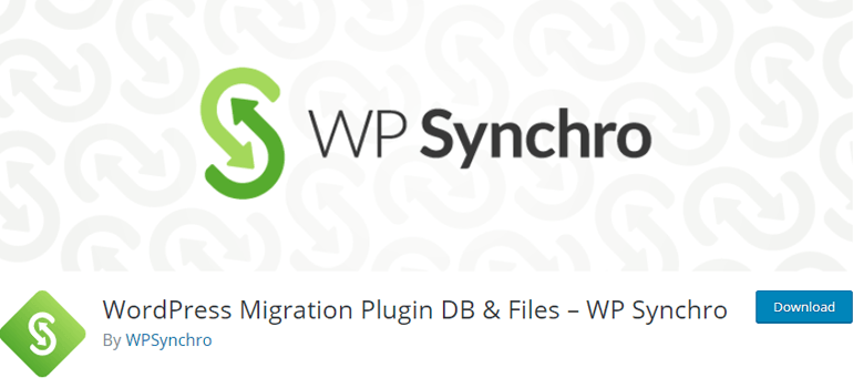 WP Synchro Staging Plugin For WordPress