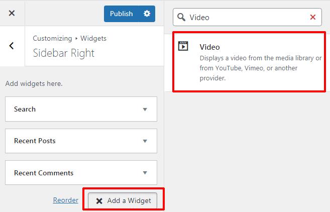 Add Video Widget