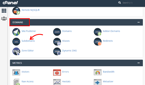 Create WordPress Staging Site cPanel Subdomain