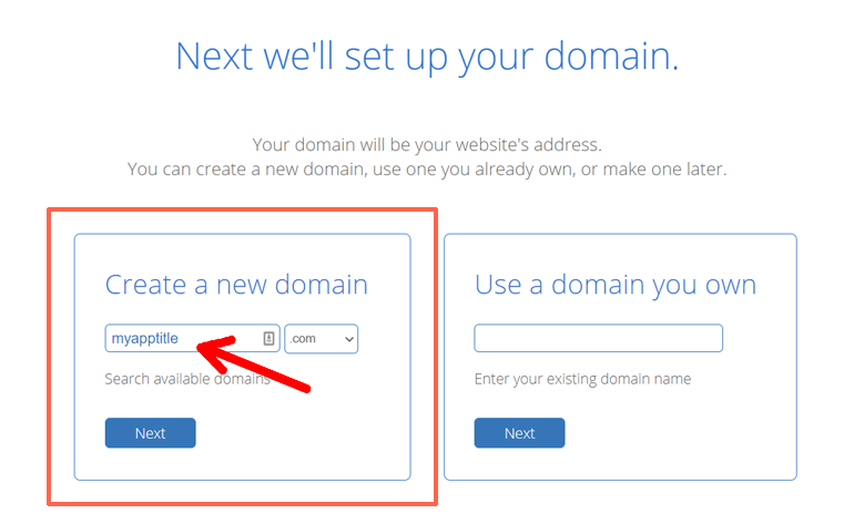 Create a New Domain at Bluehost