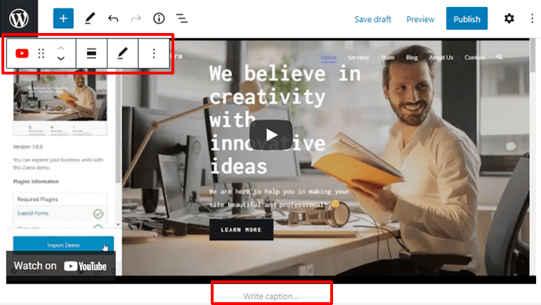 Customizing Embedded Video