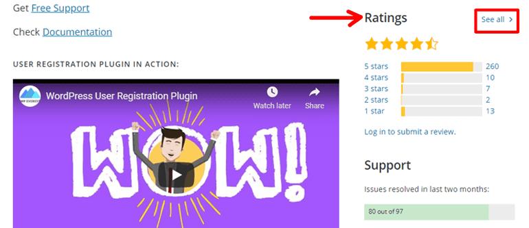 Free Plugin Ratings