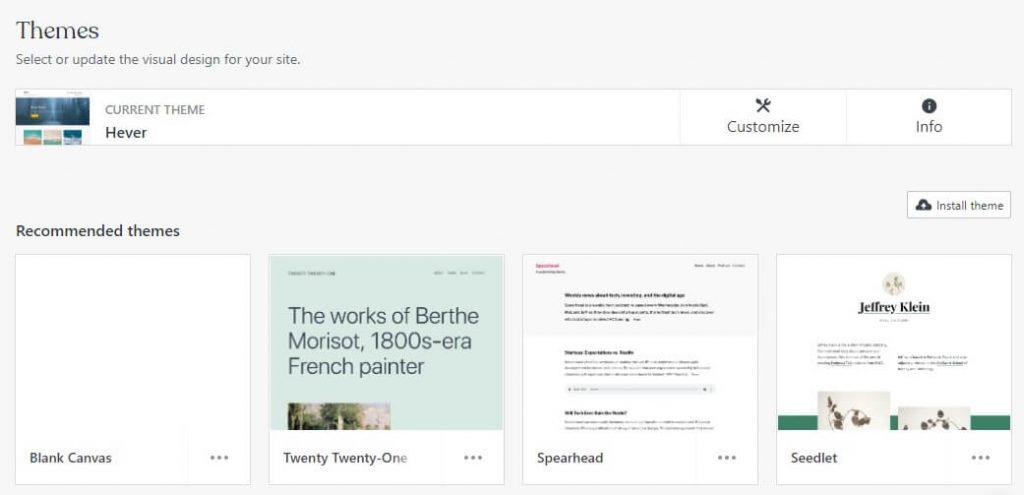 themes wordpress.com