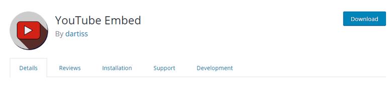 YouTube Embed WordPress Plugin