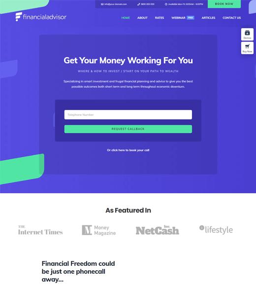 Avada Finance Blog WordPress Theme