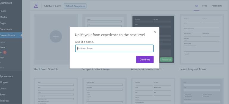 Survey Form Name