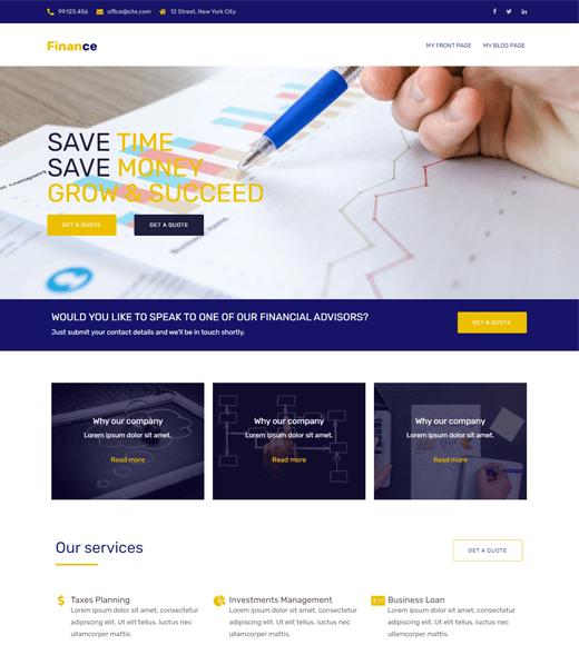 Sydney Finance Blog WordPress Theme