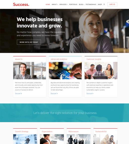 Success Best Finance WordPress Themes