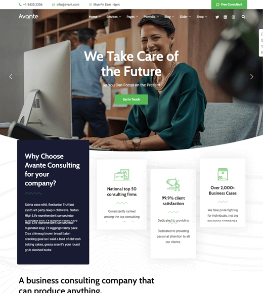 Avante Best Finance WordPress Themes