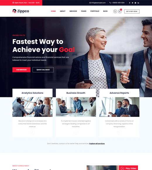 Zippco Best Finance WordPress Themes