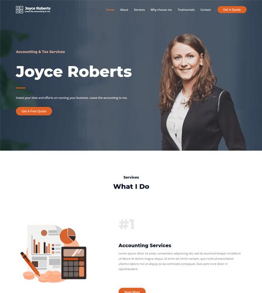 Astra Finance Business WordPress Theme